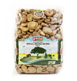 BROAD BEANS WHOLE 1kg (GAMA) _