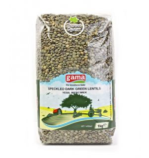 SPECKLED DARK GREEN LENTILS / yesil mercimek 1kg