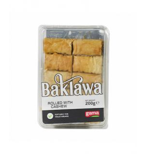 BAKLAWA ROLLED WITH CASHEWS 200g
