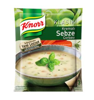 KNORR CREAM OF VEGETABLE SOUP / kremali sebze corbasi 68g