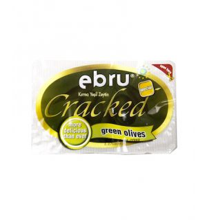 EBRU CRACKED GREEN OLIVES 250g _