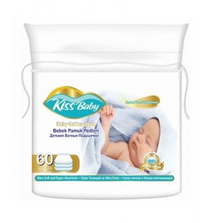 COMFORT KISS BABY COTTON PADS 60pcs