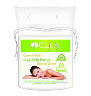 COMF. CLEA COTTON OVAL COSMETIC PADS 40pcs