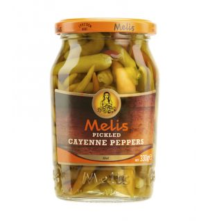 MELIS PICKLED HOT CAYENNE PEPPERS  370cl
