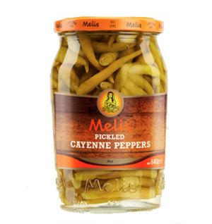 MELIS PICKLED HOT CAYENNE PEPPERS 720ml