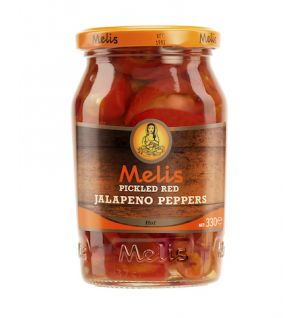 MELIS PICKLED RED JALAPENO PEPPER SLICES 370ml