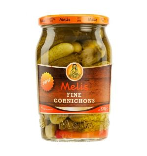 MELIS PICKLED FINE CORNICHONS 720cl